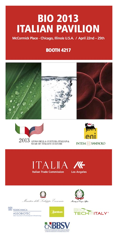 Italian Pavilion at BIO 2013 Chicago - List of Exhibitors