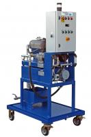 HIGH SPEED SEPARATOR WITH HEATER TO REMOVE WATER AND RESIDUES FROM OIL